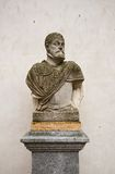 Buste du Roi espagnol Philip II dans le château d'Alcazar, Ségovie Photographie stock libre de droits