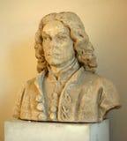 Buste en pierre battu d'une personne de temps de la Renaissance Photos libres de droits