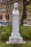 Buste von Rugjer Boskovic in Zagreb, Kroatien stockfotografie