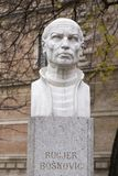 Buste von Rugjer Boskovic in Zagreb, Kroatien stockbilder