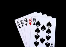 Busted приток в покере стоковые фото