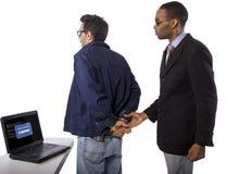 Busted хакер стоковое изображение rf