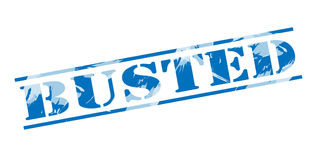 Busted blue stamp Royalty Free Stock Images