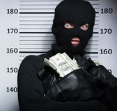 Busted burglar. Royalty Free Stock Images