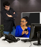 Busted on the Job Stock Photography