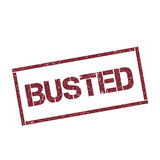 Busted rectangular stamp. Royalty Free Stock Image