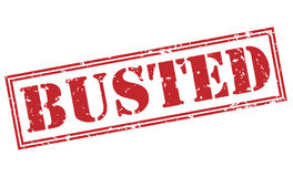 Busted red stamp Royalty Free Stock Photo