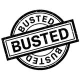 Busted rubber stamp Royalty Free Stock Photo