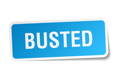 Busted square sticker Stock Photo