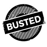 Busted stamp rubber grunge. Busted rubber stamp. Grunge design with dust scratches. Effects can be easily removed for a clean, crisp look. Color is easily Stock Photography