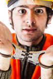 Busted worker stock photography