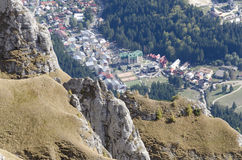 Busteni City View From Bucegi Mountains, Romania Stock Images