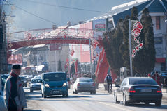 Busteni miasta ruch drogowy Fotografia Stock