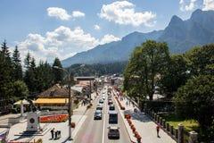 The city of Busteni, Romania. stock photo