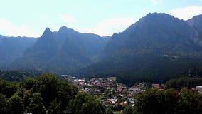 Amazing nature in Romania. BUSTENI, ROMANIA - AUGUST 16, 2018: spectacular mountain landscape in Busteni, Romania stock video footage
