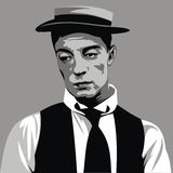 Buster Keaton - my original caricature Royalty Free Stock Photo