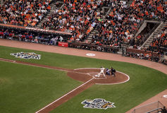 Buster Posey stands in the batters box waiting Royalty Free Stock Image