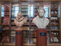 Bustes dans British Museum, Londres Photos stock