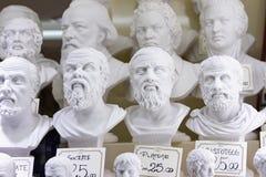 Busti del gesso dei filosofi Immagine Stock