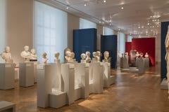 Busti di Greco Philosphers e degli imperatori nel museo Berlino di Altes Fotografie Stock Libere da Diritti
