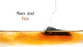 Bustina di tè in acqua immagini stock