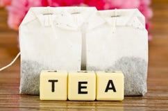 Bustine di tè dello zenzero fotografia stock
