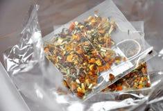 Bustine di tè di lusso Fotografia Stock