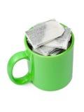 Bustine di tè in tazza Immagine Stock