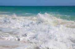 Bustling Caribbean Sea. Playa los Cocos. Cayo Largo. Cuba Stock Photos