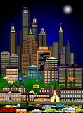 Bustling Cityscape In The Night Stock Image