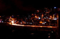 Bustling Da Lat City at Night Royalty Free Stock Images