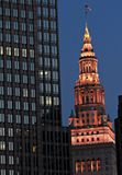The famed Terminal Tower is a trademark of Downtown Cleveland - OHIO - CLEVELAND stock image