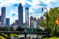 Bustling entry way into Downtown Atlanta royalty free stock photos