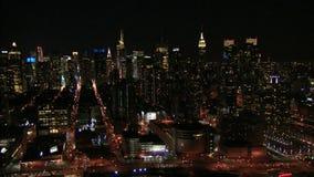Bustling new york city nighttime stock video