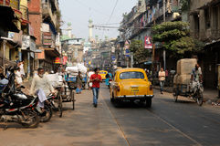 Bustling street in India Royalty Free Stock Photos