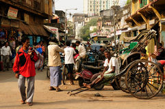 Bustling street in India Royalty Free Stock Photography