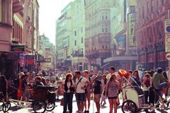 A bustling street in London Stock Images