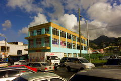 A bustling town in the windward islands Royalty Free Stock Image