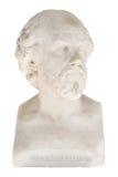Busto aislado de William Shakespeare en el Achilleion en Corfú imagenes de archivo