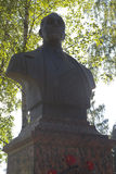 Busto a almirante Nikolai Gerasimovich Kuznetsov en Veliky Ustyug, región de Vologda Imágenes de archivo libres de regalías