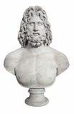 Busto antiguo del Zeus griego de dios Foto de archivo libre de regalías
