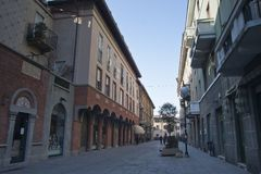 Busto Arsizio. The pedestrian zone of Busto Arsizio Stock Photo