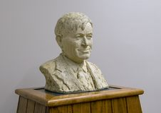 Busto bronzeo Will Rogers a cavallo, Claremore, Oklahoma immagine stock libera da diritti