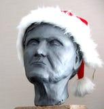 Busto com chapéu de Santa Fotos de Stock Royalty Free