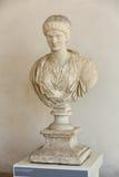 Busto de Antonina Minor nos banhos de Diocletian em Roma Fotografia de Stock