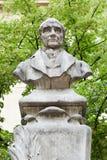 Busto de Auguste Comte en París fotos de archivo