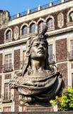 Busto de Cuauhtémoc no calo do ³ do EL ZÃ, Cidade do México Foto de Stock Royalty Free
