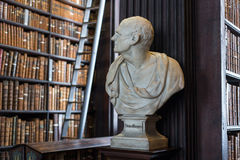 Busto de Demóstenes en universidad de la trinidad Fotos de archivo