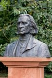 Busto de Franz Liszt Imagenes de archivo