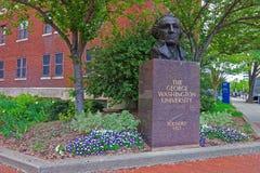 Busto de George Washington en George Washington University fotos de archivo libres de regalías